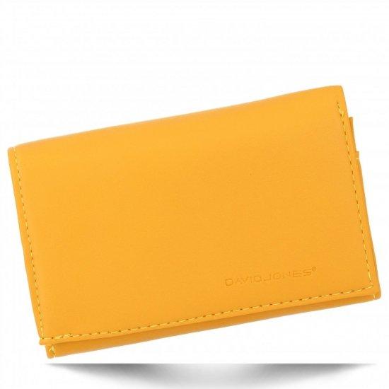 Uniwersalne Firmowe Portfele Damskie David Jones Żółty