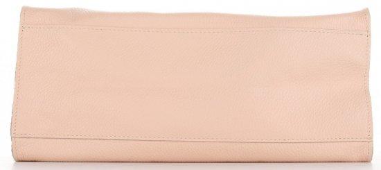 Praktyczne Torebki Skórzane 2 w 1 Shopper z Listonoszką firmy Genuine Leather Pudrowy Róż