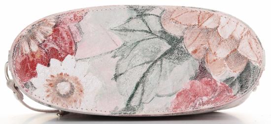 Vittoria Gotti Włoska Listonoszka Skórzana w modny wzór Kwiatów Różowa