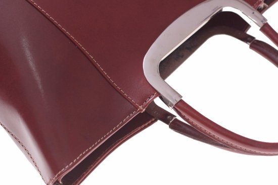 Skórzany kuferek do Ręki z długim paskiem Brąz