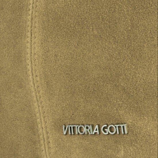 Torebka Skórzana marki Vittoria Gotti Modny Shopper Made in Italy Zielona