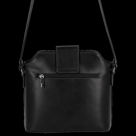 Klasyczna Listonoszka Skórzana firmy Vittoria Gotti Made in Italy Czarna