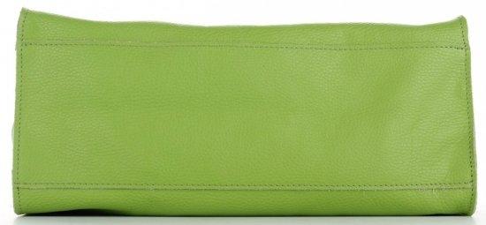 Praktyczne Torebki Skórzane 2 w 1 Shopper z Listonoszką firmy Genuine Leather Zielona