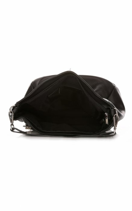 Uniwersalna Torebka Skórzana Genuine Leather Czarna