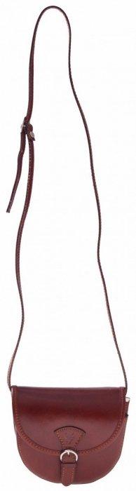 Mała Skórzana listonoszka Brązowa