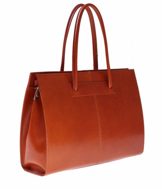 Kožená taška zložka dlhé kľučky A4 červená