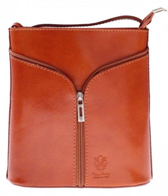 Kožená taška na messenger vyrobená v Taliansku Ruda
