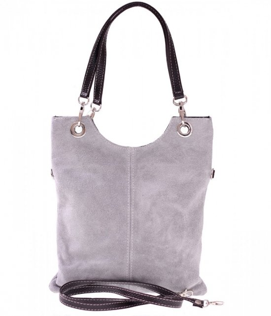 Kožené tašky poštár je svetlo šedá