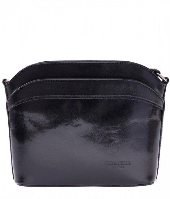 Messenger tašky, koža, čierna