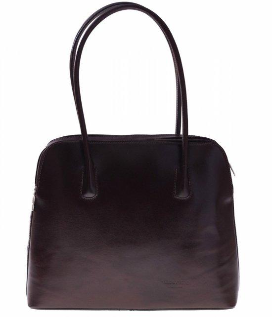 Univerzálna Kožená taška 2 priehradky čokoláda