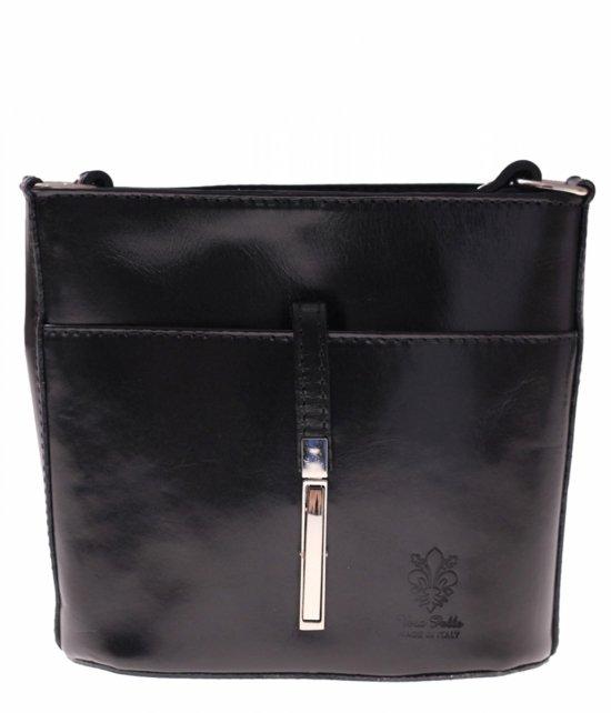 Kožená taška z pevnej čiernej kože