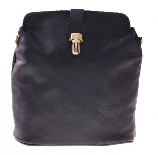 Messenger taška z mäkkej pravej kože Čierna