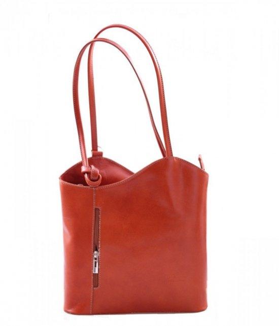 Kožený batoh vyrobený v Taliansku Ruda