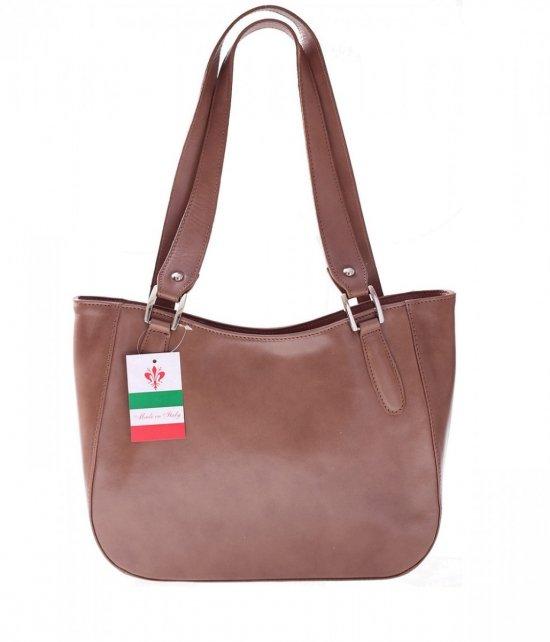 Univerzálna a príležitostná béžová Kožená taška