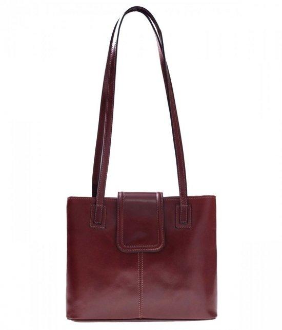 Univerzálne a ležérne kožené tašky 2 priehradky hnedá