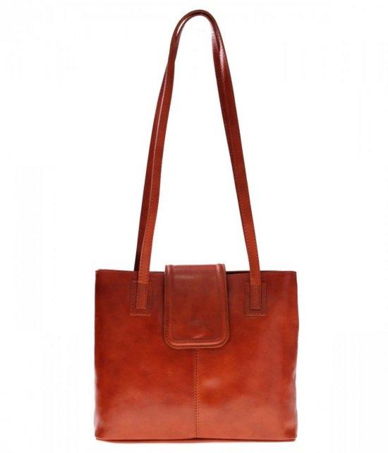Univerzálne a neformálne kožené tašky 2 priehradky Ruda
