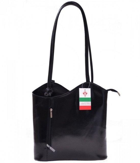 Kožený batoh vyrobený v Taliansku čierny