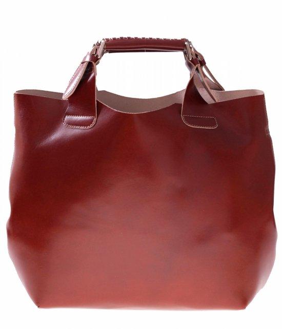 Shopperbag Kožená taška s kozmetická taška Bronz