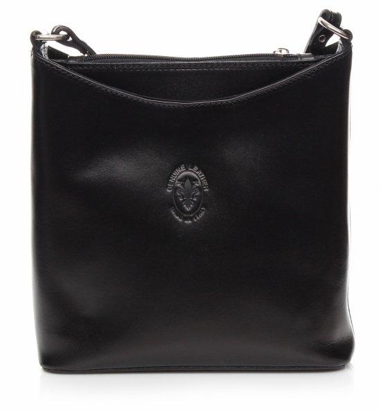 Messenger taška z pravej kože Čierna