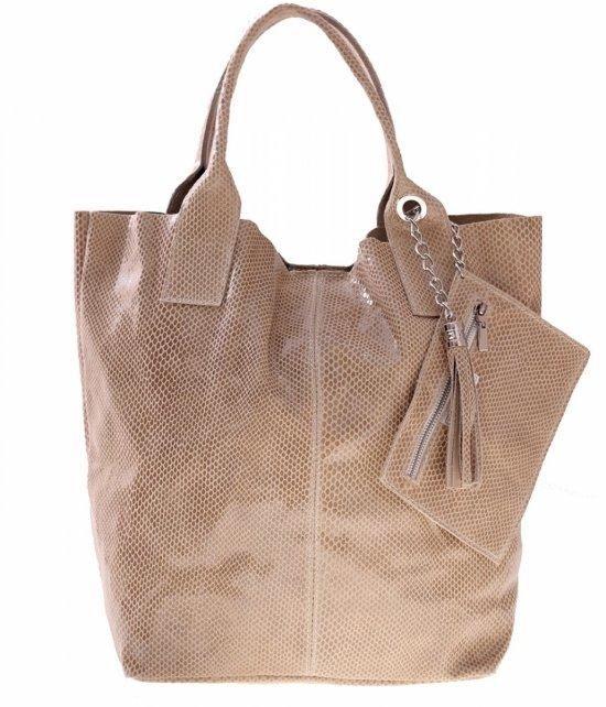 Shopper tašky patent kožené tašky svetlo béžová