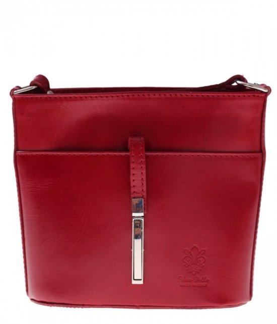 Kožená poštová taška z pevnej červenej kože