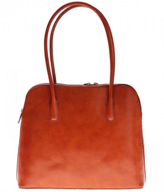 Univerzálna Kožená taška 2 priehradky červená