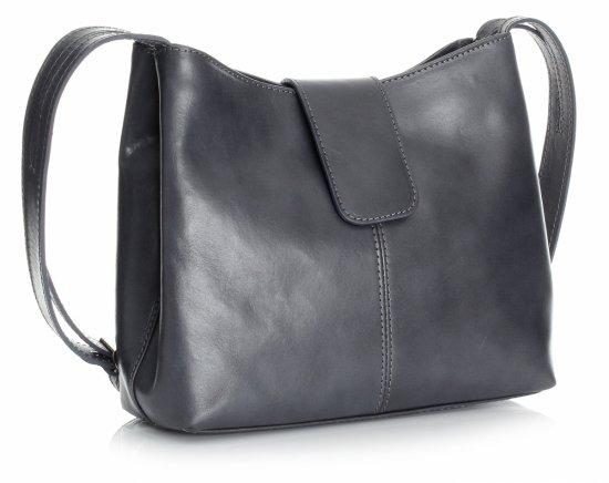 Tašky z pravej kože 2 priehradky sivá