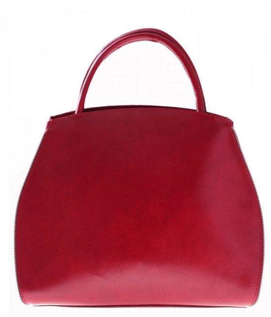Taška Kožená taška s rozšíriteľnou červenou