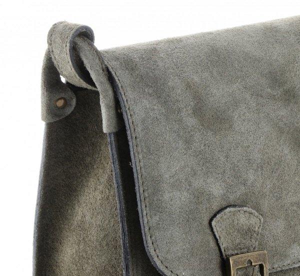 59754a669f5ac Torebki Listonoszki Skórzane Genuine Leather Szarona Zielona ...