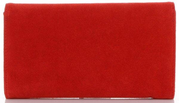 876604991d0fc Firmowe Kopertówki Skórzane Vittoria Gotti Eleganckie Listonoszki na  łańcuszku Made in Italy Czerwona