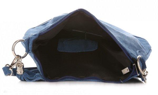 ce5efe152f7ad Torebka Skórzana Vittoria Gotti Made in Italy Niebieska - Jeans ...
