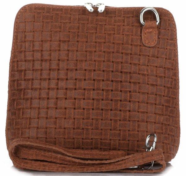 5456816c57b66 Mała Włoska Torebka Skórzana Listonoszka firmy Genuine Leather Ruda ...