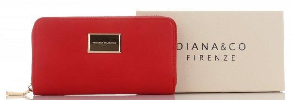 1286c699c2dd3 Firmowe Portfele Damskie XL firmy Diana&Co Czerwony - Panitorbalska.pl