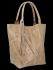 Univerzální Kožené Kabelky Shopper Bag XL se zvířecím motivem Vittoria Gotti Béžová