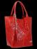 Uniwersalna Torebka Skórzana XL Shopper Bag w motyw zwierzęcy firmy Vittoria Gotti Czerwona