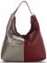 Włoska Uniwersalna Torba Skórzana w rozmiarze XL w modne wzory Czerwona