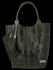 Modne Torebki Skórzane Shopper Bag XL z Etui firmy Vittoria Gotti Zielona