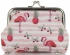 Modne Portmonetki Damskie firmy David Jones Multikolor Flamingi & Różowo Białe Paski