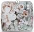 Torebka Skórzana firmy Vittoria Gotti Mała Włoska Listonoszka w modne wzory Kwiatów Szara