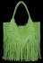 Firmowy Włoski Shopper w stylu Boho Vittoria Gotti Jasno Zielona