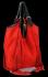 Modne Torebki Skórzane Shopper Bag z Frędzlami firmy Vittoria Gotti Czerwona