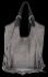 Modne Torebki Skórzane Shopper Bag z Frędzlami firmy Vittoria Gotti Szara