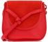 Vittoria Gotti Firmowa Torebka Skórzana Modna Włoska Listonoszka do noszenia na co dzień Czerwona