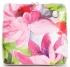 Vittoria Gotti Firmowa Listonoszka Skórzana Made in Italy w malowany wzór kwiatów Fuksja