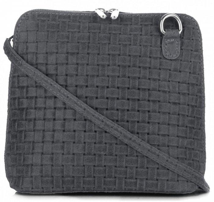 61e1dee1d1 Malé kožené kabelky listonošky Genuine Leather grafitová ...