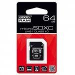 KARTA PAMIĘCI GOODRAM MICRO SDXC 64GB CLASS10 UHS-I + ADAPTER