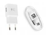 SAMSUNG - ŁADOWARKA SIECIOWA 2A FAST CHARGE z kablem USB TYP C do Samsung Galaxy A3 A5 2017 S8 S8+ S9 S9+ Note 8 9 , A8 A9 2018 , A40 A50 A70 A21S - EP-TA20EWE+EP-DN930CWE typ-c