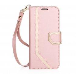 FYY MIRROR Samsung Galaxy S8 - Etui book case z lusterkiem i smyczką (pink)