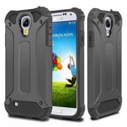 Rugged Hybrid Dual Layer Hard Shell Armor Etui Samsung Galaxy S4 (grey)