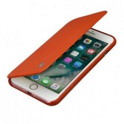 JISONCASE SKÓRZANE MAGNETYCZNE ETUI iPhone 7+ 8+ (5.5) - pomarańczony